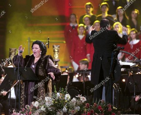 Moscow Russian Federation : Spanish Opera Star Monserrat Caballe Performs During a Charity Concert World Stars-to Children in Moscow Devoted to Disabled Children of Russia Wednesday 08 November 2000