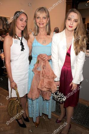 Poppy De Villeneuve, Jan Ward and Daisy De Villeneuve
