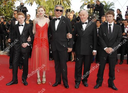 (l-r) Belgian Actor Thomas Doret French Actress Christa Theret French Director Gilles Bourdos French Actor Michel Bouquet and French Actor Vincent Rottiers Arrive For the Screening of 'Mud' During the 65th Cannes Film Festival in Cannes France 26 May 2012 the Movie is Presented in the Official Competition of the Festival Which Runs From 16 to 27 May France Cannes