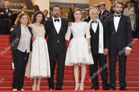 (l-r) French Actress Catherine Arditi French Actress Audrey Tautou French Actor Gilles Lellouche French Actress Anais Demoustier French Actor Francis Perrin and French Actor Stanley Weber Arrive For the Screening of 'Therese Desqueyroux' and the Closing Award Ceremony of the 65th Cannes Film Festival in Cannes France 27 May 2012 the Screening of the Movie Presented out of Competition Closes the Festival France Cannes