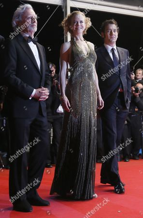 (l-r) Us Director Philip Kaufman Australian Actress Nicole Kidman and British Actor Clive Owen Arrive For the Screening of 'Hemingway and Gellhorn' During the 65th Cannes Film Festival in Cannes France 25 May 2012 the Movie is Presented out of Competition at the Festival Which Runs From 16 to 27 May France Cannes