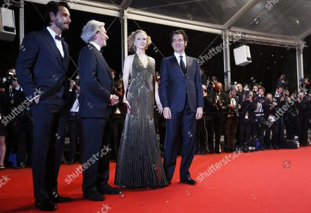 (l-r) Brazilian Actor Rodrigo Santoro Us Director Philip Kaufman Australian Actress Nicole Kidman and British Actor Clive Owen Arrive For the Screening of 'Hemingway and Gellhorn' During the 65th Cannes Film Festival in Cannes France 25 May 2012 the Movie is Presented out of Competition at the Festival Which Runs From 16 to 27 May France Cannes