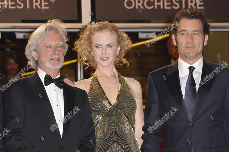 British Actor Clive Owen (r) Australian Actress Nicole Kidman (c) and Us Director Philip Kaufman (r) Arrive For the Screening of 'Hemingway and Gellhorn' During the 65th Cannes Film Festival in Cannes France 25 May 2012 the Movie is Presented out of Competition at the Festival Which Runs From 16 to 27 May France Cannes