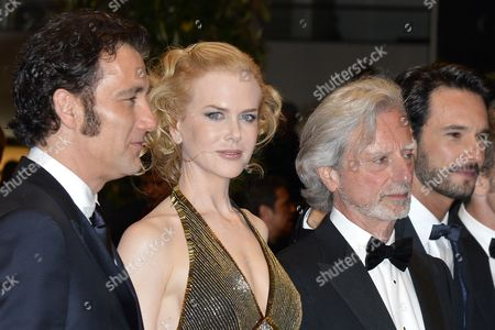 (l-r) British Actor Clive Owen Australian Actress Nicole Kidman Us Director Philip Kaufman and Brazilian Actor Rodrigo Santoro Arrive For the Screening of 'Hemingway and Gellhorn' During the 65th Cannes Film Festival in Cannes France 25 May 2012 the Movie is Presented out of Competition at the Festival Which Runs From 16 to 27 May France Cannes