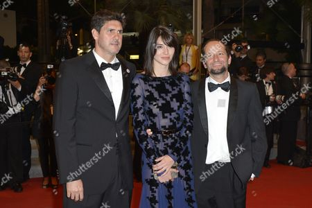 (l-r) Mexican Actor Adolfo Jimenez Castro Mexican Actress Nathalia Acevedo and Mexican Director Carlos Reygadas Arrive For the Screening of 'Post Tenebras Lux' During the 65th Cannes Film Festival in Cannes France 24 May 2012 the Movie is Presented in the Official Competition of the Festival Which Runs From 16 to 27 May France Cannes