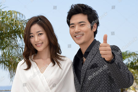 Stock Picture of South Korean Actor Kim Kang-woo (r) and South Korean Actress Kim Hyo-jin (l) Pose During the Photocall For 'Do-nui Mat' (the Taste of Money) at the 65th Cannes Film Festival in Cannes France 26 May 2012 the Movie is Presented in the Official Competition of the Festival Which Runs From 16 to 27 May France Cannes