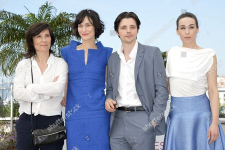 (l-r) French Director Catherine Corsini French Actress Clotilde Hesme French Actor Raphael Personnaz and Kosovan Actress Arta Dobroshi Pose During the Photocall For 'Trois Mondes' (three Worlds) at the 65th Cannes Film Festival in Cannes France 25 May 2012 the Movie is Presented in the 'Un Certain Regard' Section of the Festival Which Runs From 16 to 27 May France Cannes
