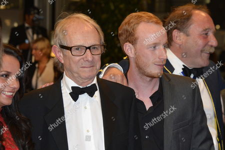 Stock Photo of (l-r) Actress Jasmin Riggins British Director Ken Loach Actor William Ruane and Actor Charlie Maclean Arrive For the Screening of 'The Angel's Share' During the 65th Cannes Film Festival in Cannes France 22 May 2012 the Movie is Presented in the Official Competition of the Festival Which Runs From 16 to 27 May France Cannes