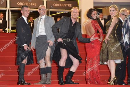 (l-r) Scottish Actor Paul Brannigan Actor Gary Maitland Actor William Ruane Actress Jasmin Riggins and Actress Siobhan Reilly Arrive For the Screening of 'The Angel's Share' During the 65th Cannes Film Festival in Cannes France 22 May 2012 the Movie is Presented in the Official Competition of the Festival Which Runs From 16 to 27 May France Cannes
