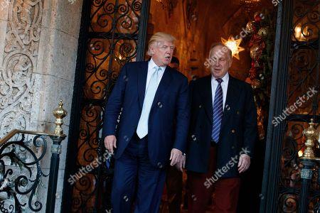 Donald Trump, Ronald Lauder President-elect Donald Trump walks with World Jewish Congress President Ronald Lauder after meeting at Mar-a_Lago, in Palm Beach, Fla
