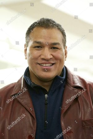 Stock Image of WSOF President Ray Sefo is seen at the WSOF 34 Open workouts on in New York