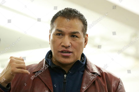 Stock Photo of WSOF President Ray Sefo is seen at the WSOF 34 Open workouts on in New York