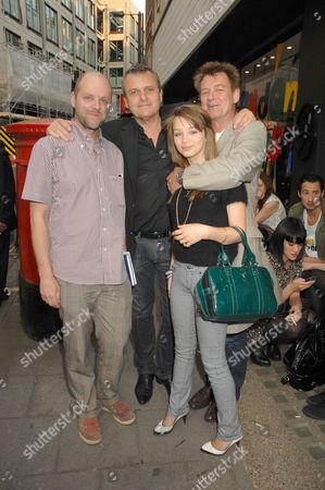 Stock Photo of Gavin Turk, Jean-Charles de Castelbajac, Carl Smyth aka Chas Smash and daughter Eloise Valentine Smyth