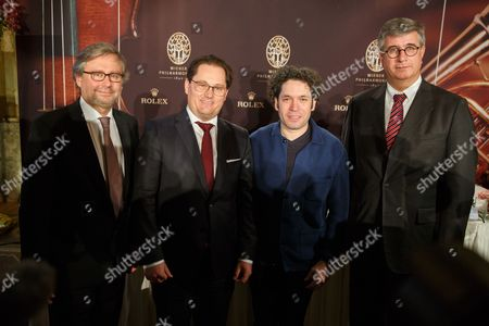 Stock Picture of Alexander Wrabetz, Andreas Grossbauer and Gustavo Dudamel