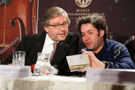 Alexander Wrabetz and Gustavo Dudamel