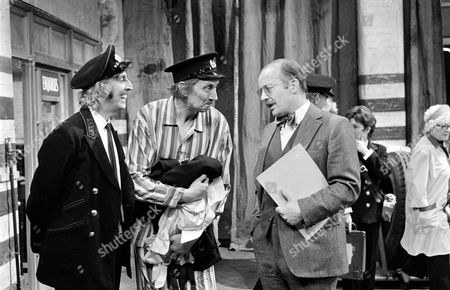 'On The Buses'   TV Episode: Gardening Time Stephen Lewis (centre) with  Bob Grant (left) and Michael Sheard
