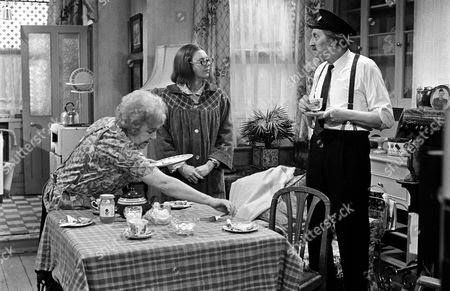 'On The Buses'   TV Episode: Gardening Time  Stephen Lewis with Doris Hare (left) and Anna Karen
