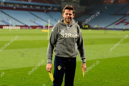 Leeds United coach James Beattie  during the EFL Sky Bet Championship match between Aston Villa and Leeds United at Villa Park, Birmingham