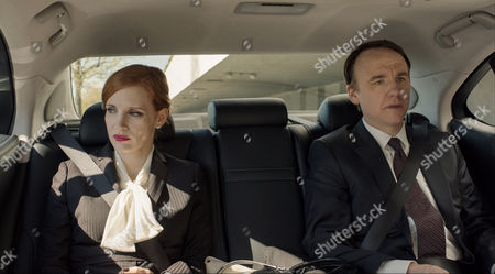 David Wilson Barnes (right) and Jessica Chastain (left)