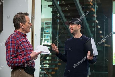 Bryan Cranston and Director John Hamburg on the set