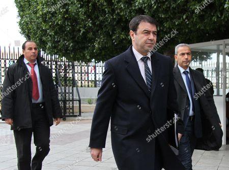 Stock Photo of Tunisian Interior Minister Hedi Majdoub (C)