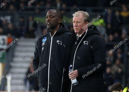 Steve McClaren and Chris Powell, on the touchline