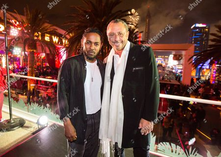 Stock Picture of Kendrick Lamar and Victor Drai