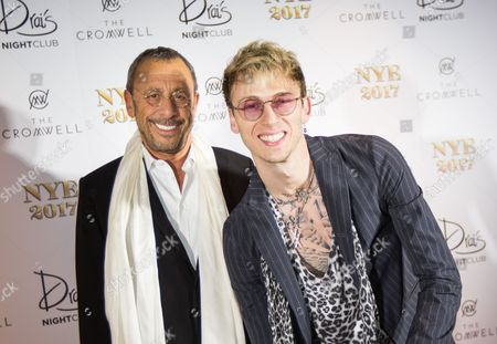 Stock Image of Victor Drai and Machine Gun Kelly