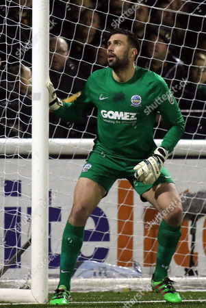 Stock Picture of Dover Athletic goalkeeper, Steven Arnold during Maidstone United vs Dover Athletic, Vanarama National League Football at the Gallagher Stadium on 1st January 2017