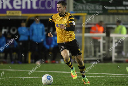 Ben Greenhaigh of Maidstone United during Maidstone United vs Dover Athletic, Vanarama National League Football at the Gallagher Stadium on 1st January 2017