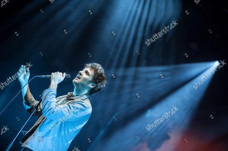 Editorial picture of Paulo Nutini in concert, Edinburgh, Scotland, UK - 31 Dec 2016
