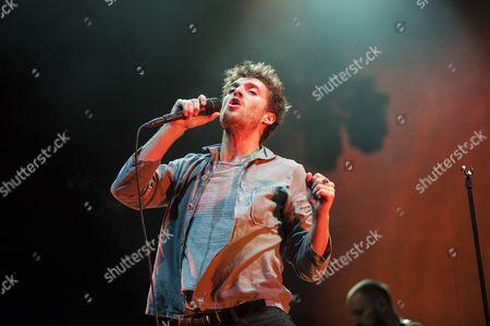 Stock Photo of Paulo Nutini performs at the bandstand in Edinburgh's Princess Street Gardens as part of Edinburgh's Hogmanay celebrations