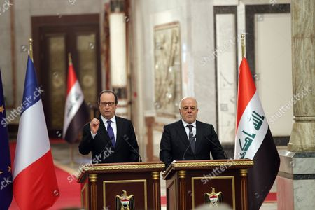 Editorial picture of French President Francois Hollande in Baghdad, Iraq- 02 Jan 2017