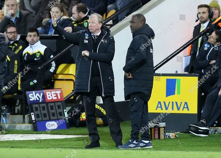 Sreve McClaren, Derby County manager along with assistant, Chris Powell