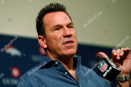 Gary Kubiak concludes his remarks as he steps as head coach of the Denver Broncos because of health concerns, at team headquarters in Englewood, Colo