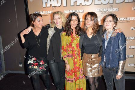 Stock Photo of Solange Cicurel, Stephanie Crayencour, Jenifer Bartoli, Tania Garbarski, Camille Chamoux