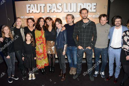 Editorial picture of 'Faut pas Lui Dire' film premiere, Paris, France - 02 Jan 2017
