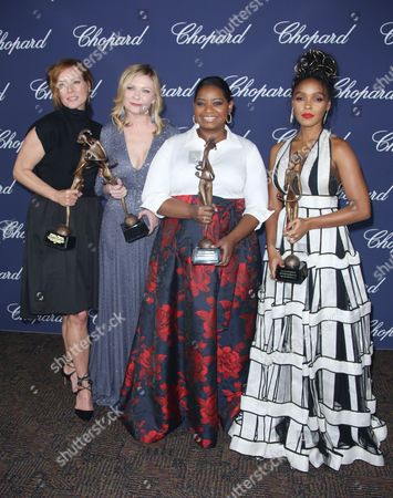 Kimberly Quinn, Kirsten Dunst, Octavia Spencer and Janelle Monae in the press room