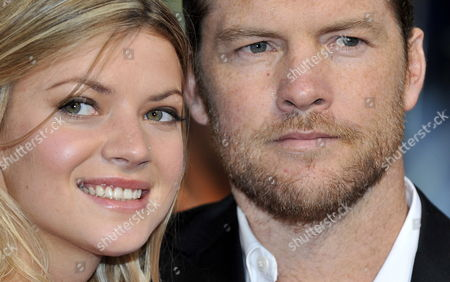 Australian Actor/cast Member Sam Worthington (r) and Guest Crystal Humphries Attends the Film Premiere of 'Wrath of the Titans' in London Britain 29 March 2012 the Movie Will Be Released in Cinemas Across the Uk on 30 March United Kingdom London