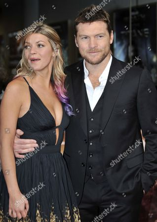 Australian Actor/cast Member Sam Worthington (r) and Guest Crystal Humphries Attend the Film Premiere of 'Wrath of the Titans' in London Britain 29 March 2012 the Movie Will Be Released in Cinemas Across the Uk on 30 March United Kingdom London