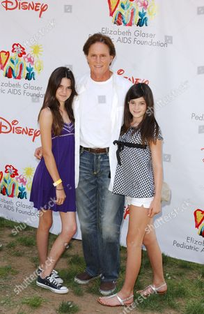 Bruce Jenner with daughters Kylie and Kendall