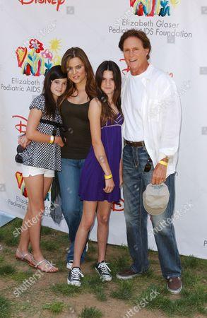 Bruce Jenner, Kylie Jenner, Kendall Jenner and Khloe Kardashian