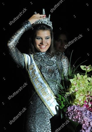 Mina Milutinovic From Serbia Poses For Photographs After Being Crowned As Miss World Next Top Model 2012 in a Contest in Beirut Lebanon Late 15 July 2012 Thirty Six Models From All Over the World Competed For the Title Lebanon Beirut
