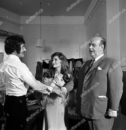 Stock Photo of 'Department S' - 'The Man Who Got a New Face' - Peter Wyngarde, Adrienne Corri and Eric Pohlmann.