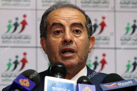 Mahmoud Jibril the Former Head of the Executive Board of Libya's Ruling National Transitional Council (tnc) Speaks During a Press Conference in Tripoli Libya 09 July 2012 a Liberal Coalition Has Made Big Gains in Libya's First National Elections Since Muammer Gaddafi's Ouster the Party Said on 08 July 2012 the National Forces Alliance is a Grouping of Political Parties Led by Mahmoud Jibril who was the Rebel Foreign Minister During the Conflict Against Gaddafi Last Year Libyan Arab Jamahiriya Tripoli