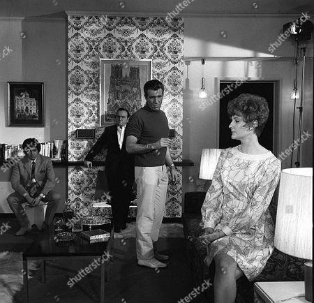 Stock Photo of 'Department S' - Dead Men Die Twice - TV - 1969 - Alan Lake, Steve Plytas, Kieron Moore, Barbara Murray