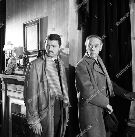 Stock Photo of 'Department S' - The Perfect Operation - TV - 1969 - George Roubicek (left) Philip Locke (right)