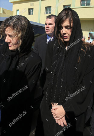Australian Lawyer Melinda Taylor (r) and Her Interpreter From Lebanon Helen Assaf (l) Are Seen Following Their Release From Detention in Zintan a Town Southwest of Tripoli Libya 02 July 2012 Libya Released Four International Criminal Court Officials Detained Since Early June on Suspicion of Smuggling Documents to the Son of Slain Leader Moamer Gaddafi the Officials Were Released in the Western Town of Zintan where They Were Arrested by a Local Militia After a Visit to Saif Al-islam Gaddafi who is Wanted by the Icc For His Role in the Killing of Protesters During a Revolt Last Year That Ended His Father's Rule the Arrest of Australian Melinda Taylor the Icc-appointed Defence Counsel For Saif Al-islam Gaddafi and a Lebanese Translator on June 9 Deepened a Dispute Between the Icc and Libya Two Other Icc Officials who Had Stayed with Taylor Were Also Released Libyan Arab Jamahiriya Tripoli