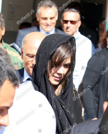 Australian Lawyer Melinda Taylor (r) and Her Interpreter From Lebanon Helen Assaf (not Pictured) Are Seen Following Their Release From Detention in Zintan a Town Southwest of Tripoli Libya 02 July 2012 Libya Released Four International Criminal Court Officials Detained Since Early June on Suspicion of Smuggling Documents to the Son of Slain Leader Moamer Gaddafi the Officials Were Released in the Western Town of Zintan where They Were Arrested by a Local Militia After a Visit to Saif Al-islam Gaddafi who is Wanted by the Icc For His Role in the Killing of Protesters During a Revolt Last Year That Ended His Father's Rule the Arrest of Australian Melinda Taylor the Icc-appointed Defence Counsel For Saif Al-islam Gaddafi and a Lebanese Translator on June 9 Deepened a Dispute Between the Icc and Libya Two Other Icc Officials who Had Stayed with Taylor Were Also Released Libyan Arab Jamahiriya Tripoli