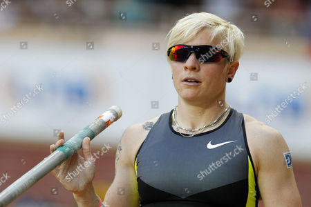 Martina Strutz From Germany Competes in the Women's Pole Vault Event During the Iaaf Herculis Meeting at the Louis Ii Stadium in Monaco 20 July 2012 Monaco Monaco